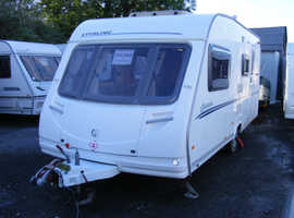2007 Sterling Europa 520, 4 berth caravan, serviced, ready to use now.