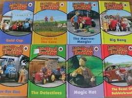 8 Little red Tractor story Books with back pack