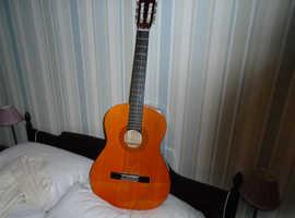 guitar - broken string, still attached