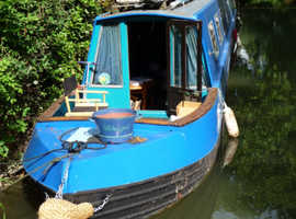 Oxford Houseboat with mooring in picturesque city centre location