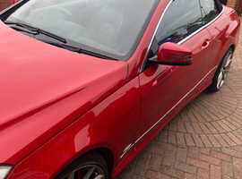 Mercedes E Class, 2012 (62) Red Convertible, Automatic Diesel, 133,000 miles