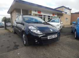Renault Clio, 2012 (62) Black 5 Dr Hatchback, Part ex welcome