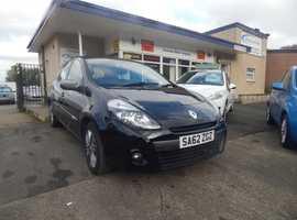Renault Clio, 2012 (62) Black 5 Dr Hatchback, Part ex welcome