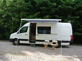 Comfortable Couple Campervan. Great DIY conversion including recent Habitation Certificate. Reliable VW Crafter with low mileage.