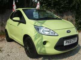 Ford Ka, 2010 (10) Green Hatchback, Manual Petrol, 62,145 miles