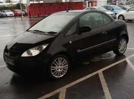 Mitsubishi Colt, 2008 (08) Black Convertible, Manual Petrol, 114,000 miles