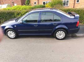Volkswagen Bora, 2001 (51) Blue Saloon, Manual Petrol, 96,000 miles