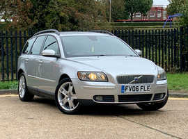 Volvo V50 SERIES, 2006 (06) Silver Estate, Manual Petrol, NEW MOT Ready to go