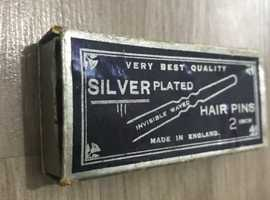 Vintage Very Old Collectable Silver Hair Pins Rare Retro Whitefield