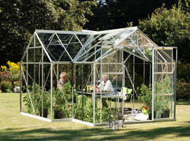 Vitavia greenhouses supplied by Millbank Sectional Buildings, Hellesdon Barns Garden Centre, Norwich,