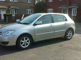 Toyota Corolla, 2005 (55) Silver Hatchback, Manual Petrol, 86,000 miles