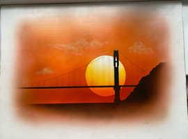 Original - Airbrush Painting - Aug 1977 - Enamel on Hard Board