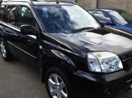 Nissan X-TRAIL, 2005 (05) Black Estate, Manual Diesel, 98,000 miles 4x4