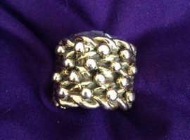 9ct 47 gram 4 row keeper ring