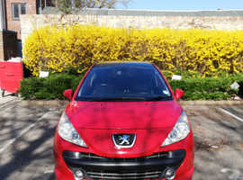 Peugeot 207, 2006 (56) Red Hatchback, Manual Diesel, 115 miles