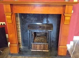 Fire surround solid wood cherry patina