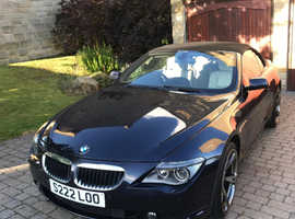 BMW 6 Series, 2006 (56) Blue Convertible, Automatic Petrol, 131,117 miles