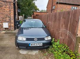 2003 VW Golf 5 door Hatchback Grey. low mileage considerating age. £1200 ono