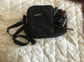 Handbag with binoculars & camera