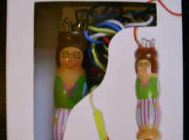 Strikkedukke Knitting Doll