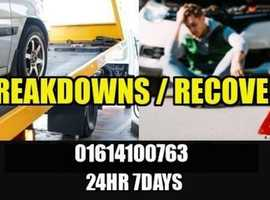 Manchester Vehicle Breakdown Recovery Towing Services 01614100763