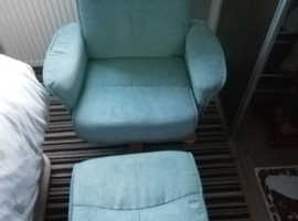 Swivel Recliner chair & foot stool