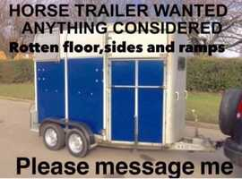 Wanted Horse Trailers Anything Considered