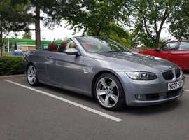 BMW 3 Series, 2007 (07) Grey Convertible, Automatic Petrol, 82,701 miles