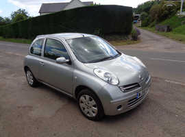 Nissan Micra, 2006 (56) Silver Hatchback, Manual Petrol, 114,000 miles