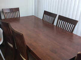 Redwood Malaysian table 6 chairs