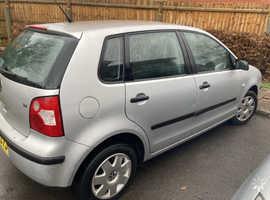Volkswagen Polo, 2004 (54) Silver Hatchback, Manual Petrol, 96,848 miles