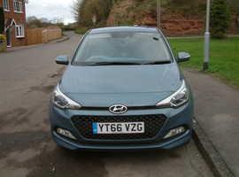 Hyundai i20,Premium, 2016 (66) Blue Hatchback, Manual Petrol, 5,062 miles