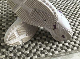 Velcro fastening white trainers 5.5 size