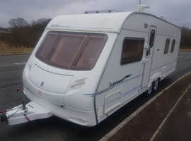 2005 TWIN AXLE ISLAND BED 4 BERTH ACE SUPREME. LONG BEDS AT FRONT LOVELY CONDITION. FIRST TO SEE WILL BUY.
