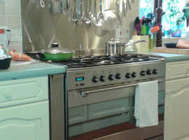 Stainless steel splash back cut to size