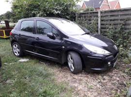 Peugeot 307, 2006 (56) Black Hatchback, Manual Petrol, 138,751 miles