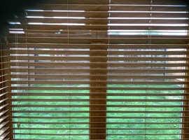 Brand new boxed Hamilton Mcbride faux wooden venetian blinds