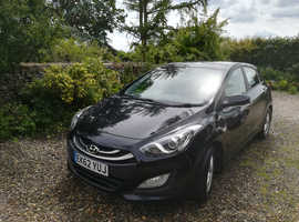 Hyundai i30, 2012 (62) Black Hatchback, Manual Diesel, 88,600 miles
