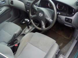 Nissan Almera, 2004 (53) Black Hatchback, Automatic Petrol, 150.000 miles