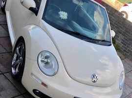 Volkswagen Beetle, 2007 (07) Beige Convertible, Manual Diesel, 88,000 miles