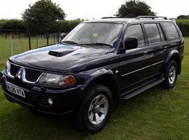 Mitsubishi Shogun Sport, 2005 (05) blue estate, Manual Diesel, 121811 miles