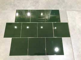 CERAMIC WALL TILES 150x150 ( VICTORIAN GREEN GLOSS) - ALL SAME BATCH -CANCELLED SPECIAL ORDER