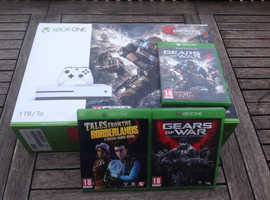 Xbox One S 1tb with Gears of War collection.