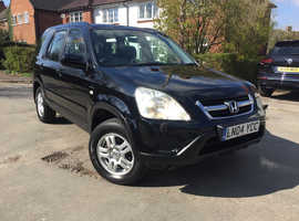Honda CR-V, 2004 (04) Black Estate, Automatic Petrol, 46,554 miles