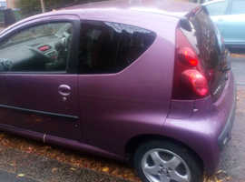 Peugeot 107, 2012 (12) Purple Hatchback, Manual Petrol, 54,067 miles