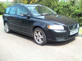 Volvo V50, 2007 (57) Black Estate, Manual Diesel, 128,475 miles