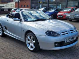 MG TF, 2003 (03) silver sports, Manual Petrol, 55140 miles