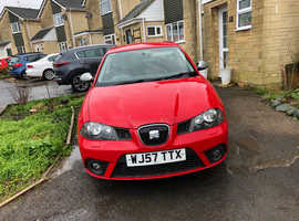 Seat Ibiza, 2007 (57) Red Hatchback, Manual Diesel, 87,000 miles