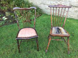 Pair antique chairs