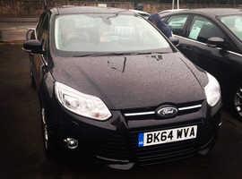 Ford Focus, 2014 (64) Black Hatchback, Manual Petrol, 33,000 miles